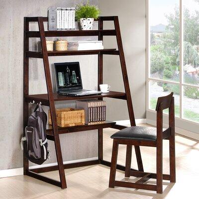 leaning shelf desk wayfair. Black Bedroom Furniture Sets. Home Design Ideas