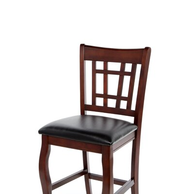 "Wildon Home ® Hoyt 24"" Chair in Black and Cherry"