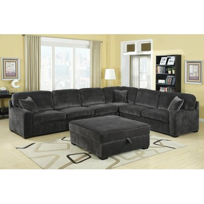 Wildon Home ® Bromley Velvet Sectional