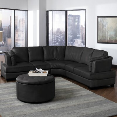 Wildon Home ® Chelsea Bonded Leather Sectional