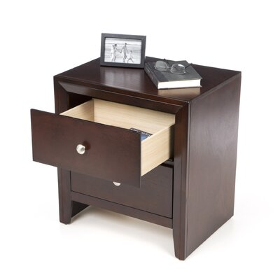 Wildon Home ® Detroit 2 Drawer Nightstand