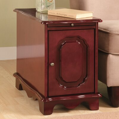 Wildon Home ® Cherry Entiat Magazine Cabinet with Pull Out Tray
