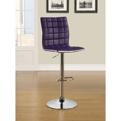 Wildon Home ® Adjustable Waffle Bar Stool with Footrest