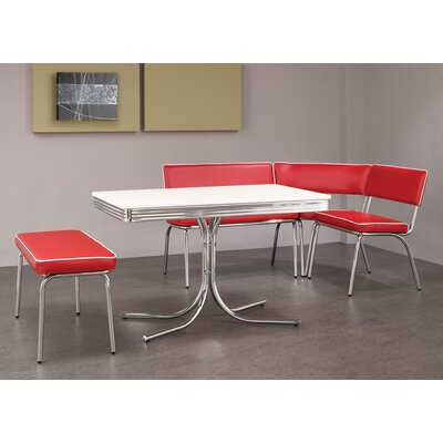 Retro Dining Set with Table, Corner Bench and Floating Bench