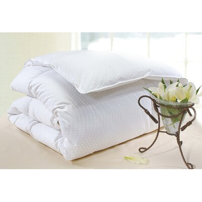 Wildon Home ® Polka Dot Firm Cotton Goose Down Pillow in White