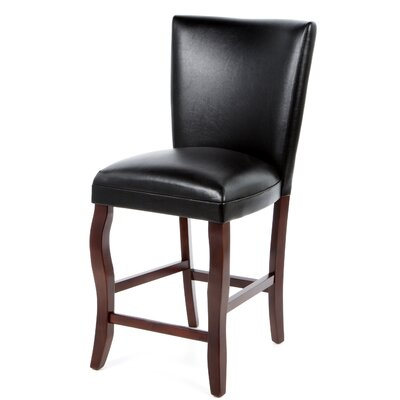 "Wildon Home ® Hoyt 24"" Bar Chair in Dark Cherry"