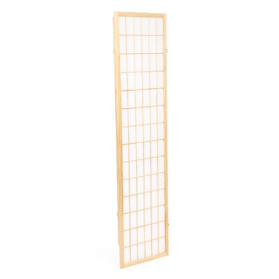 Wildon Home ® Omak Three Panel Folding Screen in Wood with Natural Frame