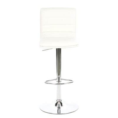 "Wildon Home ® Colorado City 29"" Ribbed Vinyl Barstool with Footrest"