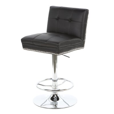 Wildon Home ® Groom Barstool with Button Back in Black