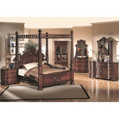 Wildon Home ® Corina King Four Poster Bedroom Collection