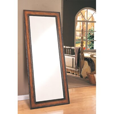 Wildon Home ® Sedro Leaning Floor Mirror Antique Brown Crackle