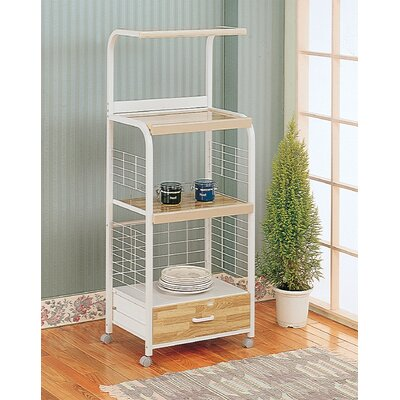 Wildon Home ® Gilbert Kitchen Cart with Wood Top
