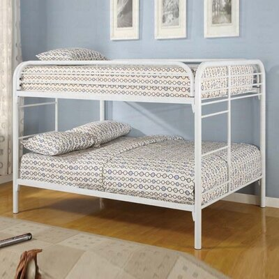 Wildon Home ® Sacramento Full over Full Bunk Bed with Built-In Ladder