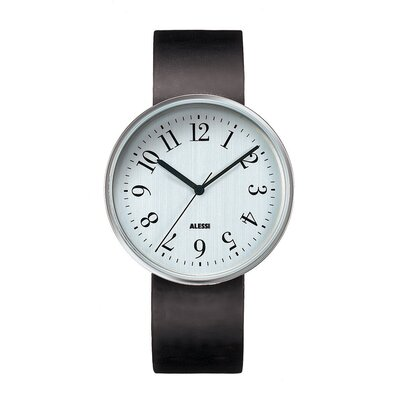 Alessi Record Leather Watch