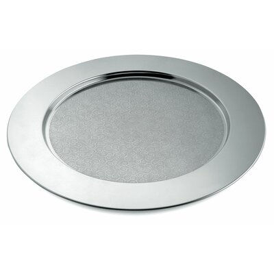 Alessi Disco Cesellato Decorated Round Tray by Alessandro Mendini