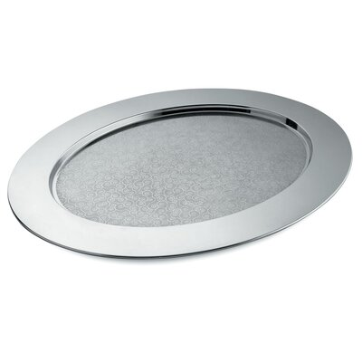 Alessi Ovale Cesellato Decorated Oval Tray by Alessandro Mendini