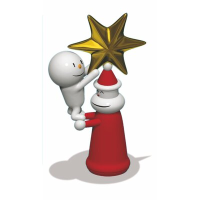 Alessi Holiday With a Little Help Christmas Ornament Figurine