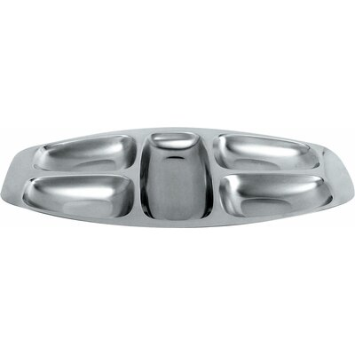 Alessi Carlo Mazzeri Hors D'Oeuvre Five Section Tray