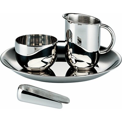Alessi Bauhaus Sugar and Creamer Set