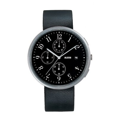 Alessi Record Chronograph Leather Watch