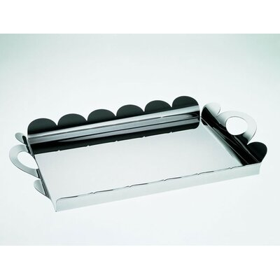 Alessi Alessandro Mendini Recinto Rectangular Tray with Handles