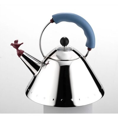 Alessi 9093 Signature 67oz Whistle Tea Kettle with Bird Whistle by Michael Graves,1985