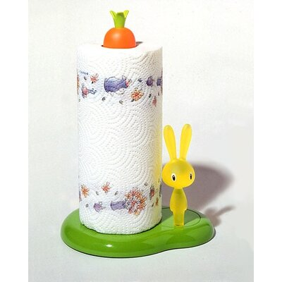 Alessi Bunny & Carrot Kitchen Roll Holder by Stefano Giovannoni