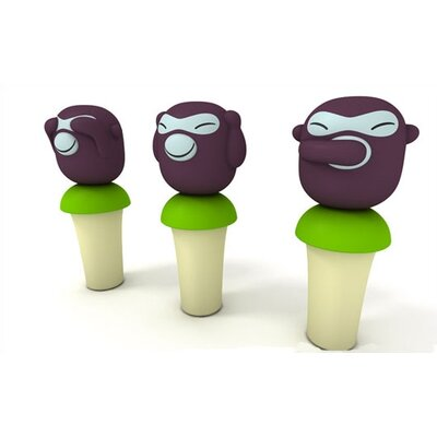 Alessi Orientales by Stefano Giovannoni Banana Boys Bottle Stoppers