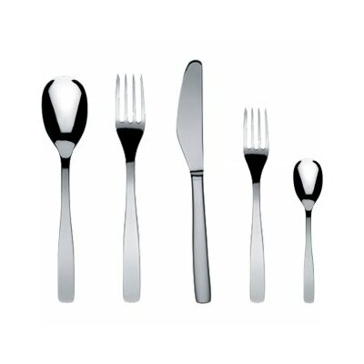 Alessi Knifeforkspoon 5 Piece Flatware Set