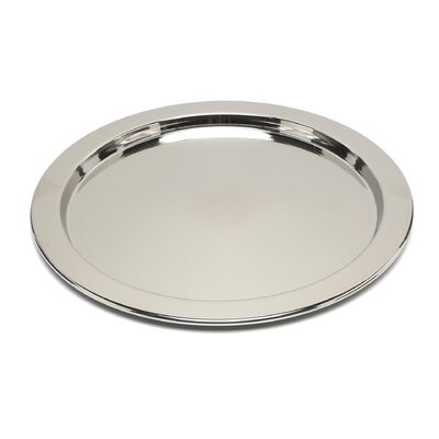 Alessi Ettore Sottsass Round Tray with Graphic Engraving