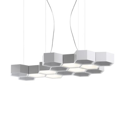 Luceplan Honeycomb 6 Light LED Suspension Lamp