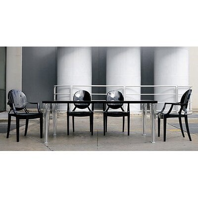5 Piece Top Table and Ghost Chair Dining Set