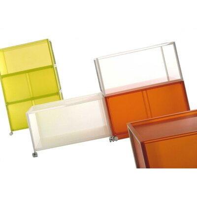 Kartell-One Modular Storage Unit with Doors and Wheels