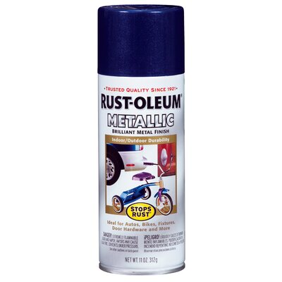 RustoleumStopsRust 12 Oz Cobalt Blue Metallic Stops Rust Spray Paint