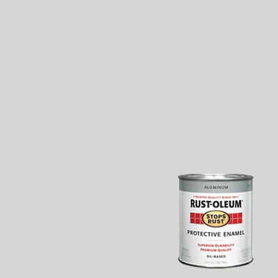 RustoleumStopsRust 1 Quart Aluminum Protective Enamel Oil Base Paint 7715-502