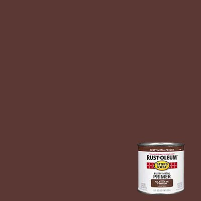 RustoleumStopsRust 1/2 Pint Rusty Metal Primer Protective Enamel Oil Base Paint 7769 730