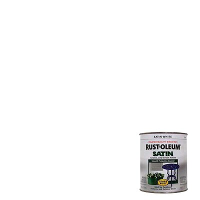 RustoleumStopsRust 1 Quart Satin White Protective Enamel Oil Base Paint 7791-502