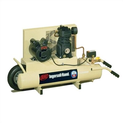 Ingersoll Rand 8 Gallon 2 HP Wheelbarrow Twin-Tank Electric Air Compressor