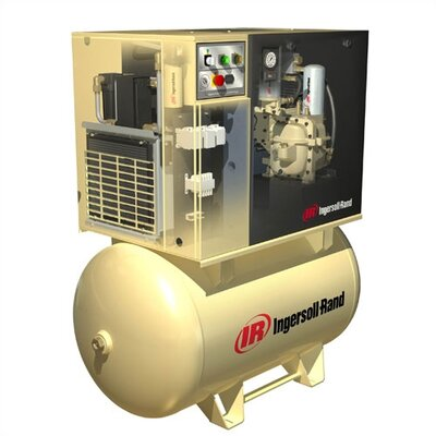 Ingersoll Rand 15 HP, 125 PSI, 55 CFM Rotary Screw Air Compressor with 'Total Air System'