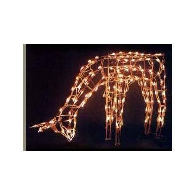 SantasForest Pre Lit Wire Frame Feeding Doe Deer Light