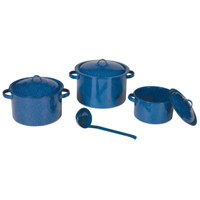 Stansport Enamel Stock Pot with Lid