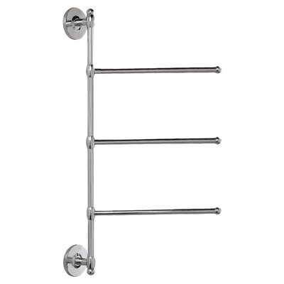 Gatco 3-Arm Wall Mounted Towel Bar in Chrome