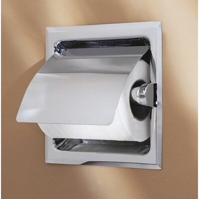 Gatco Recess Toilet Paper Holder with Cover in Chrome
