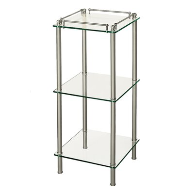 Gatco Premier 3-Tier Glass in Satin Nickel
