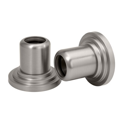 Gatco Marina Wall Flange Pair in Satin Nickel