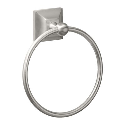 Gatco Meridian Towel Ring in Satin Nickel