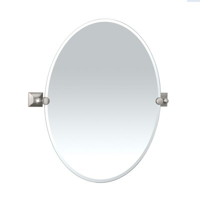 Gatco Meridian Mirror in Satin Nickel