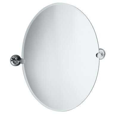 Designer II Oval Mirror in Chrome