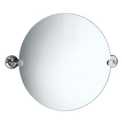 Designer II Round Mirror in Chrome