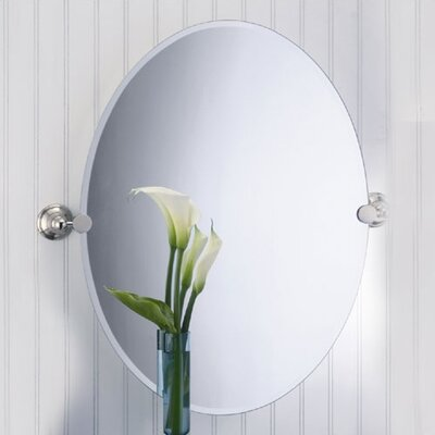 Laurel Avenue Oval Mirror in Polished Nickel